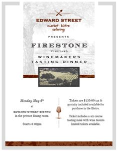 Firestone Winemakers Dinner