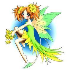 Fairy Celandine Digi Stamp in Digital images
