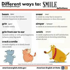 We hope you smile every day! Here are different ways to smile in #AmericanEnglish. When was the last time you grinned from ear to ear?