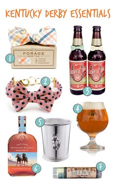 Beer Bow ties by oliveandviolet.com, great for Kentucky Derby Party Ideas