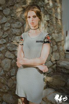 Love You Striped Dress Barbara Dunkelman