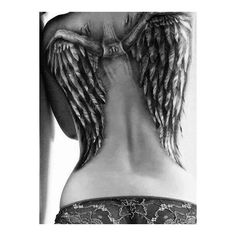 Wing Tattoos ❤ liked on Polyvore featuring accessories, body art, tattoo and tatoo