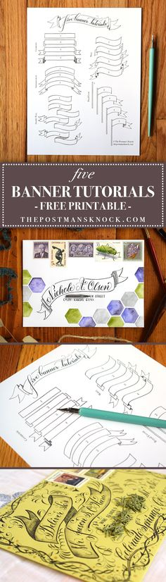 Five Banner Tutorials (Includes Free Printable!)   The Postman's Knock