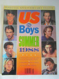 BIG SALE *** Vintage US Magazine 1988 summer boys Special anniversary issue : Tom Hanks Tom Cruize Kevin Costner by TashasVintages on Etsy