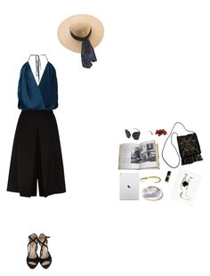 """new horizons"" by amandinouuu ❤ liked on Polyvore featuring Mary Katrantzou, Hobbs, Tome, American Apparel, Repetto, Madewell and INC International Concepts"