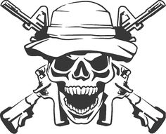 InkAce - Army Ranger Skull With Guns Decal, $0.00 (https://www.inkace.com/army-ranger-skull-with-guns-decal/)