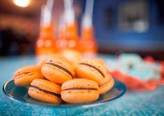 Macarons, Orangina, Tea Cookies - luxury snack!