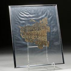 Lot 8 Ancient Egyptian Papyrus Fragment w/ Demotic Script Provenance: private Ritterbush collection Auction Artemis via Invaluable Artemis, View Image, Egyptian, Script, Auction, Antiques, Collection, Antiquities, Antique