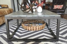 How to Build a DIY Industrial Coffee Table for Only $75.24 - House Updated