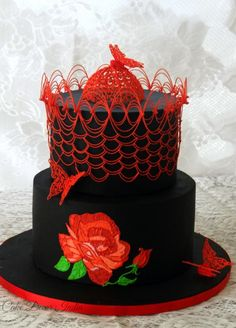 Embroidery in Royal icing - Cake by Prachi DhabalDeb