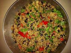 Quinoa and Balsamic Vinegar Salad - replace black beans with grilled chicken for Rob.