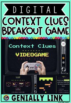 Students are going to LOVE this digital breakout game for context clues practice! It can be accessed on any device with a web-browser: Chromebooks, computers, iPads, iPhones, etc. Reading skills practice just got much more exciting! Teaching Tools, Teacher Resources, Teaching Ideas, Reading Response, Reading Skills, Comprehension Strategies, Reading Comprehension, Breakout Game, Synonyms And Antonyms