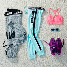 Love Pink Workout Outfit
