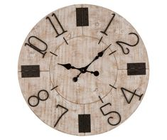 Purchase the Glitzhome® Farmhouse Wooden Wall Clock at Michaels. The weathered plank details add rustic character which is perfect for bringing a touch of country-inspired looks into your home. Wooden Walls, Metal Walls, Kitchen Wall Clocks, Wall Clock Online, Farmhouse Kitchen Decor, Rustic Farmhouse, Farmhouse Style, Wood Texture, Wood Paneling