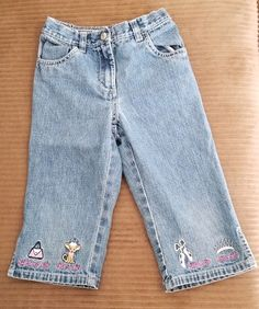 17d1f8f51 Gymboree Glamour Princess 2004 Line Embroidered Denim Pants Jeans Girls  Size 5 D #Gymboree Girls
