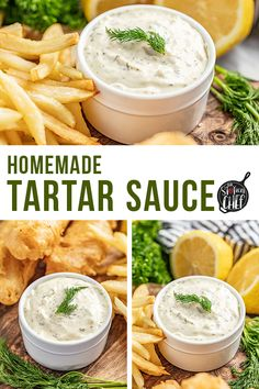 Homemade tartar sauce is bright, tangy, and so easy to make! If you're craving fish and chips, you can't forget the homemade tartar sauce on the side! Homemade Tartar Sauce, Homemade Seasonings, Seafood Recipes, Cooking Recipes, Sauce Recipes, Yummy Recipes, Stay At Home Chef, Sweet Pickles