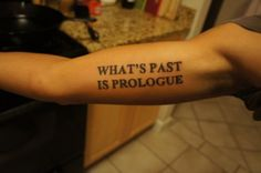 awesome Shakespeare quote, awesome tattoo.