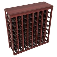 Wine Racks America Ponderosa Pine 64 Bottle Two Tone Deluxe (Black/Cherry Stain) - It works and does exactly what I need it to.This Wine Racks America that is r Wine Bottle Rack, Bottle Wall, Bottle Bottle, Tabletop, Wine Racks America, Hanging Wine Glass Rack, Pine Cabinets, Kitchen Cabinets, Wine Stand