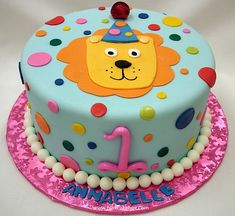 First Birthday Lion Cake by Pink Cake Box