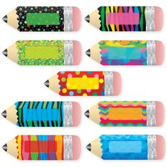 "Poppin' Patterns Pencils 10"" Jumbo Designer Cut-Outs"