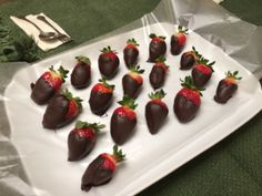 How long would these chocolate dipped strawberries last in your house? Well done and presented by a Jammer in our Cooking course!