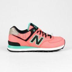 New Balance - Wo 574 Ripstop (Pink | Green) Women classic shoes
