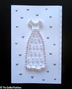 Quilled Bridal Shower / Wedding Card  White by TheQuilledRainbow