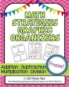 Math Fact Graphic Organizers {FREE} Addition Subtraction M