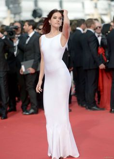 Barbara Palvin sur le tapis rouge de  The Search  à Cannes, le 21 mai 2014.