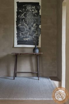 Dream modern carpet, beige, felted wool. ID: 220-001-920.