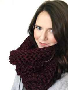 A chunky crochet scarf pattern that will fool your knitting friends. The edges naturally curl up to create a squishy cowl that lays perfect every time.