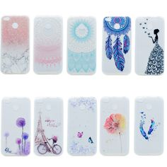 awesome Transparent Soft Silicone TPU Phone Case For Xiaomi Redmi 4X 5.0 Inch Back Cover Tower bicycles Painted Pattern For Redmi 4X