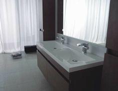 Doppel-WASCHTISCH 144 Badezimmermöbel Waschplatz Badmöbel weiß hochglanz | eBay