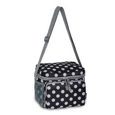CB6P Cooler  Lunch Pattern Bag  Black  White Dot * You can get more details by clicking on the image. This is an affiliate link.