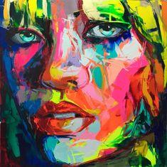 Palette knife painting portrait Palette knife Face Oil painting Impasto figure on canvas Hand painted Francoise Nielly Oil Painting On Canvas, Canvas Wall Art, Canvas Frame, Pop Art, Cheap Paintings, Oil Paintings, Palette Knife Painting, Abstract Faces, Wall Art Pictures