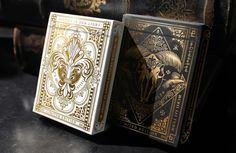 Nicolai Aarøe is raising funds for Dominus Playing Cards on Kickstarter! 2 limited ed. decks with metallic ink and gold foiled, embossed tucks. II in the 'Light vs. Darkness' series by Nicolai Aarøe. Bicycle Cards, Bicycle Playing Cards, Whiskey Gift Set, Magic Tattoo, Regal Design, Cartomancy, Deck Of Cards, Card Deck, Business Card Design