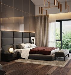 The Scandinavian decor is an excellent choice for small rooms and does not necessarily require a big budget. Modern Luxury Bedroom, Modern Bedroom Furniture, Modern Bedroom Design, Luxurious Bedrooms, Home Interior Design, Furniture Design, Hotel Bedroom Design, Master Bedroom Interior, Masculine Bedrooms