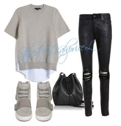 Kanye by styledbykahpricel on Polyvore featuring polyvore, fashion, style, Alexander Wang, RtA, adidas, Rachael Ruddick and clothing