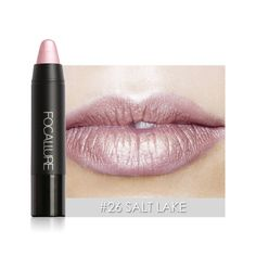 FOCALLURE Metallic Lip Stick Sexy Party Lips Color Matte Long-lasting Waterproof Lipstick