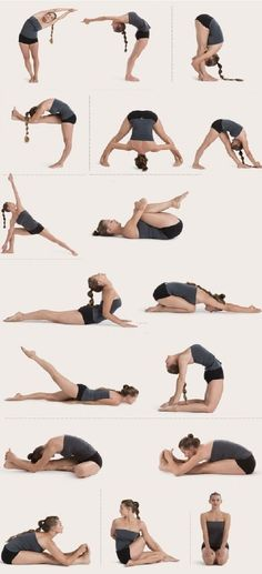stretches from bikram yoga.. I can only do some of them on my own level… But ya know whatever works… I am sooo not flexible