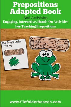 Engaging, Interactive, Hands-On Activities for teaching prepositions. Preposition Activities, English Activities, Vocabulary Activities, Speech Therapy Activities, Language Activities, Hands On Activities, Articulation Games, Book Activities, Phonics