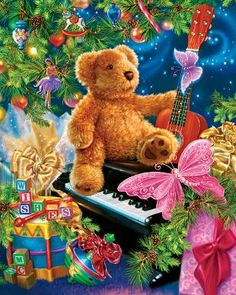 Christmas Bear Wishes, a 400 piece jigsaw puzzle by Springbok Puzzles.