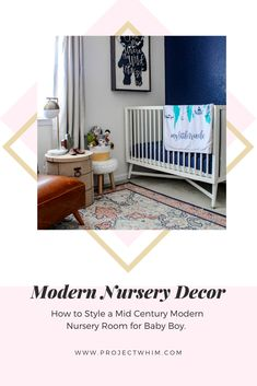 How to style and organize the perfect Modern Nursery. Decor Ideas for Baby Boy. Mid century modern nursery room for baby boys. Modern decor for kids. Baby Boy Room Decor, Nursery Room Decor, Baby Boy Rooms, Baby Boy Nurseries, Girl Nursery, Baby Boys, Modern Nursery Decor, Nursery Design, Modern Decor
