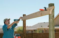 Pergola For Car Parking Diy Pergola, Cedar Pergola, Building A Pergola, Corner Pergola, Small Pergola, Pergola Canopy, Pergola Swing, Pergola With Roof, Outdoor Pergola