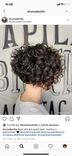 Short Curly Hairstyles For Women, Haircuts For Curly Hair, Curly Hair Cuts, Curled Hairstyles, Wavy Hair, Short Hair Cuts, Short Hair Styles, Hair Today, Hair Inspiration