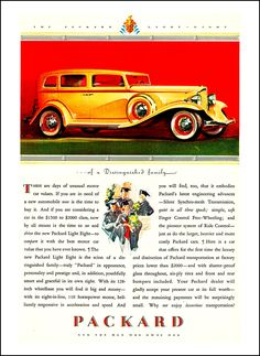 "1932 Packard Light Eight  advertising ""These are days of unusual motor car values"""