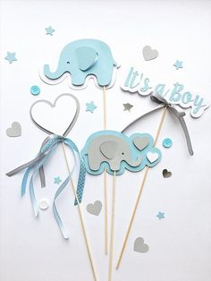 Excited to share the latest addition to my shop: Elephant Centerpieces Boy Baby Shower Centerpieces Blue Gray Its a Boy Centerpieces Baby Boy Shower Elephant First Birthday Table Decoration Elephant Centerpieces, Baby Shower Table Centerpieces, Birthday Table Decorations, Baby Shower Decorations For Boys, Baby Shower Themes, Baby Boy Shower, Baby Shower Gifts, Shower Ideas, Elephant Decorations