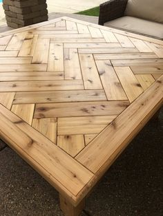 rustic herringbone solid wood coffee table by purewoodworking home rh pinterest com