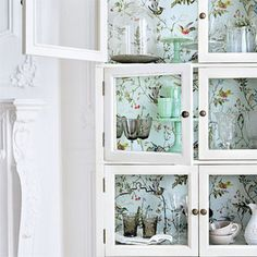 wallpapered-cupboards by {this is glamorous}, via Flickr