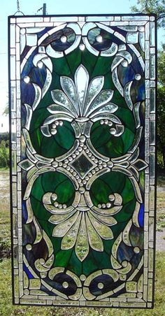 Beautiful Crystal Madonna Full Stained Glass Window